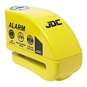 JDC MOTORCYCLE Motorbike Disc Lock ALARM - Yellow