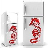 Mhdxmp Kühlschrank Aufkleber VinylAufkleber Chinesischen Drachen Wandbild Wohnzimmer Küche Dekoration Vinyl Kunst Geschirr Stickers30 * 65 Cm