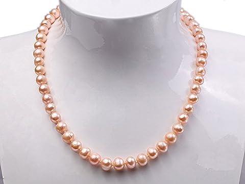 Jyx 9mm Classique d'eau douce rose Naturel rond Collier de perles Strand 45,7cm