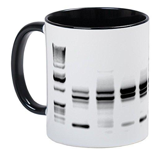 CafePress-DNA Gel B/W taza-Exclusivo café taza, taza de café, taza de té, White/Black Inside, Small
