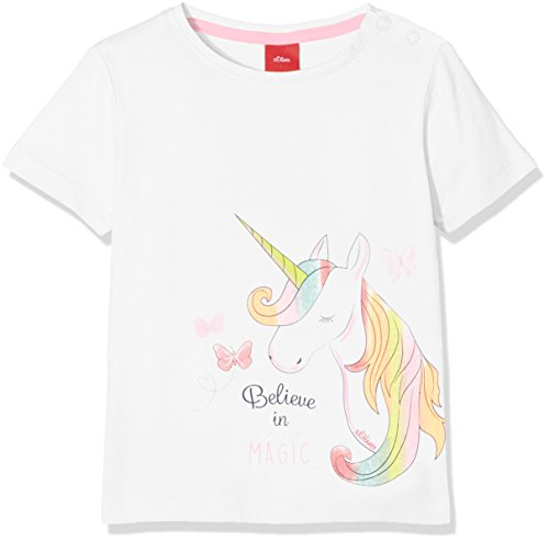 s.Oliver Baby-Mädchen T-Shirt 65.804.32.5028, Weiß (White 0100), 92