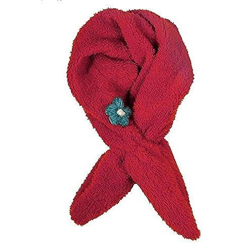 Bambino della peluche carino ragazze fiore sciarpa , deep red