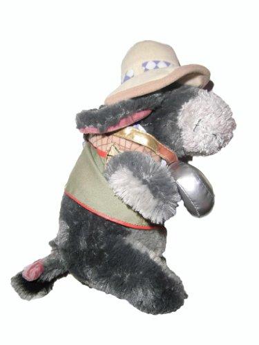 Winnie the Pooh Eeyore Esel Stofftier - mit Trinkflasche und Schleifchen im Schwanz - SELTEN (Sammler) (Winnie The Pooh Sammler)