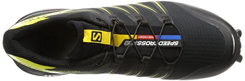 Salomon Speedcross Pro, Chaussures de trail homme Noir (Black/black/corona Yellow)
