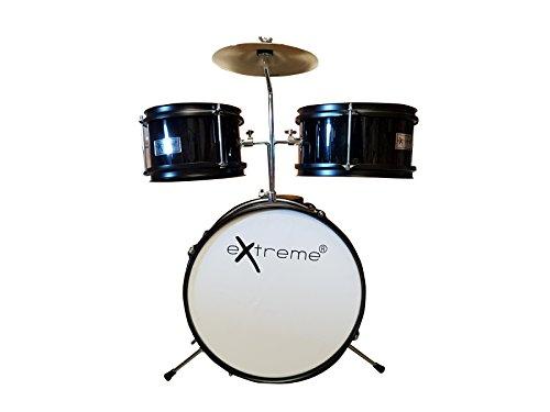Extreme d950j3 bk batteria acustica junior 3 pezzi colore nero