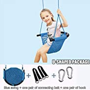 Amaae Kids Swing Seat Ropes Adjustable Duty Rope Play Children Swing Set (اللون: أخضر، برتقالي، أزرق، وردي، أح