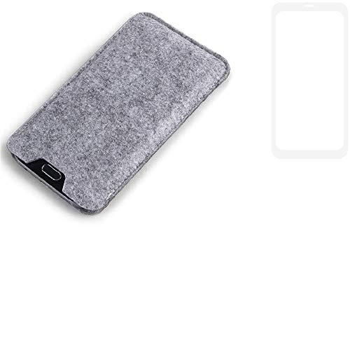 K-S-Trade Filz Schutz Hülle für Vestel V3 5580 Dual-SIM Schutzhülle Filztasche Filz Tasche Case Sleeve Handyhülle Filzhülle grau