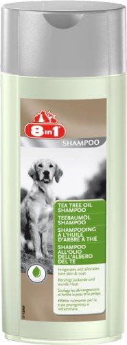 8in1 Teebaumöl Shampoo für Hunde (beruhigt trockene und gereizte Hundehaut), 250 ml Flasche