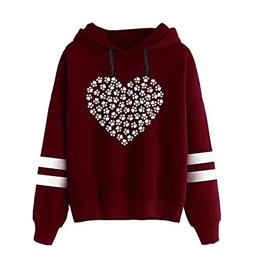 Briskorry Damen Pullover Hoodie Mode Gedruckt Langarm Kapuzenpulli Beiläufig Sweatshirt Mit Kapuze...