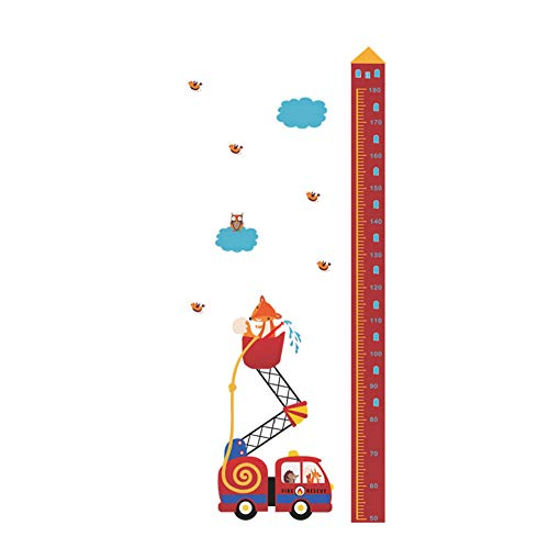 Tiere Feuer Rettungswagen Höhe Maßnahme Wandaufkleber, Für Kinderzimmer Wachstum Chart Home Tür Decor Pvc Wandbild Wandkunst Aufkleber - Chart Wachstum Tür