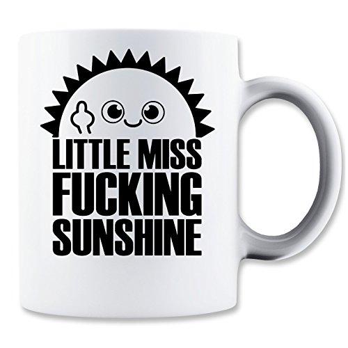 LukeTee Little Miss Fucking Sunshine Klassische Teetasse Kaffeetasse