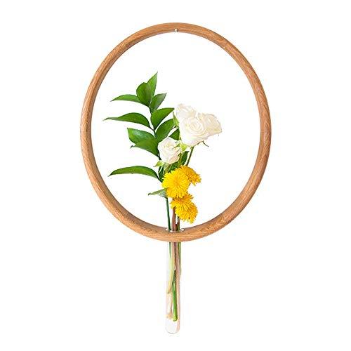 TLTLHJ Pflanzenständer, Nordische Wanddekoration Einfaches Zuhause Massivholz Flower25 × 33 × 4cm (Farbe : Holzfarbe)
