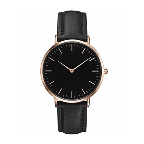 Uhren, ihee Frauen Herren Fashion Design Casual einfache Edelstahl Quarz analoge Uhr Band Handgelenk Uhren (Schwarz)
