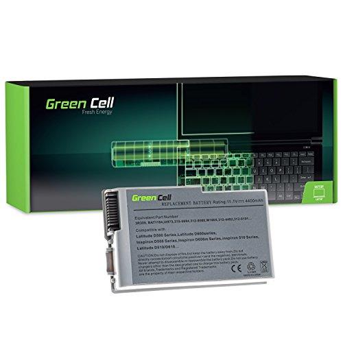 D600 Series Akku (Green Cell Standard Serie Laptop Akku für Dell Inspiron 500 500m 510m 600m Latitude 500M 600M D500 D505 D510 D520 D530 D600 D610 PP05L PP17L Precision M20 4400mAh)
