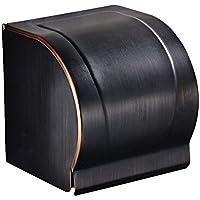 RFVBNM Europeo de estilo negro papel toalla marco negro antiguo dibujo sello completo impermeable papel toalla cuadro semicírculo titular de tejido completo paquete de tejido caja baño dormitorio cocina titular de papel