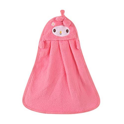 er: Kinderzimmer-Handtuch Küche Bad Hängen Anti-Rutsch-Handtuch Weiches Handtuch Cute Cartoon Animal Print ()
