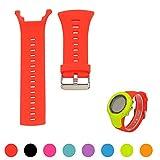Correa de silicona iFeeker para reloj de pulsera Suunto Ambit 1, Ambit 2 o Ambit 3,ajustable (no incluye reloj), rojo