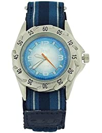 TERRAIN Teenager Blaue Sportliche Uhr mit Klettarmband