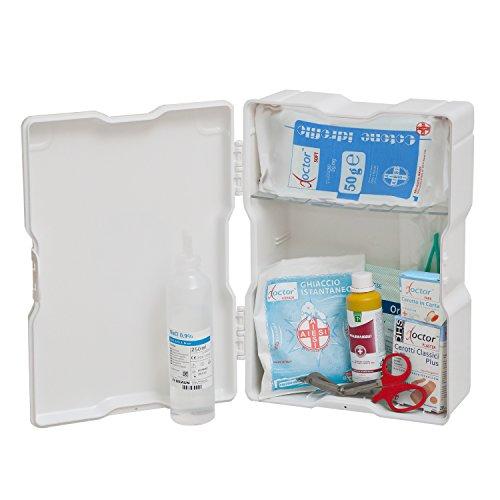 Aiesi armadietto di pronto soccorso in plastica con allegato 2 per aziende meno 3 dipendenti ✔ conforme dm388/dl81 ✔ made in italy
