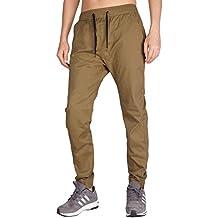 Italy Morn Uomo Casual Chino Pantaloni Jogging Sport Slim Fit 20 Colori 519bbd350396