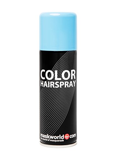 Maskworld Color Hairspray - farbiges Haarspray bunt Colorspray (Hellblau)