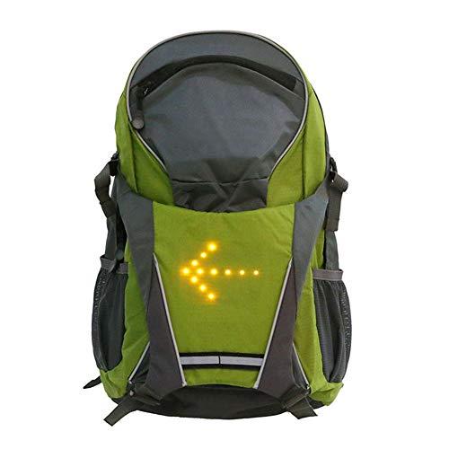Knowled LED Drahtlose Fernbedienung Sicherheit Blinker Licht Fahrrad Fahrrad LED Reflektierende Weste Rucksack für Outdoor Camping Wandern Radfahren Handliche Reise Daypack Tasche