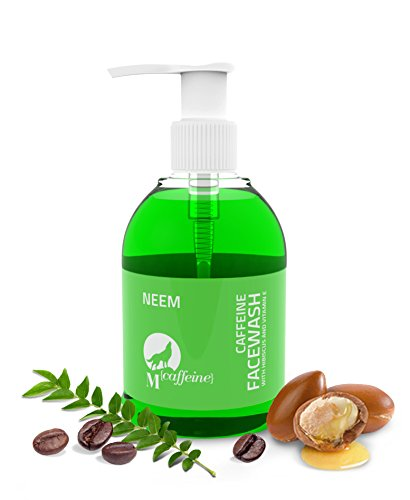 Neem Caffeine Face Wash Cleanser with Argan Oil and Vitamin E For...