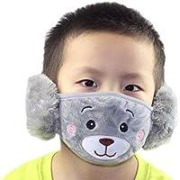 Mundmaske für Kinder, grauer Bär, mit Ohrschlaufe, winddicht, staubdicht, Fleece, für den Winter, warm, für Jungen... preisvergleich bei billige-tabletten.eu
