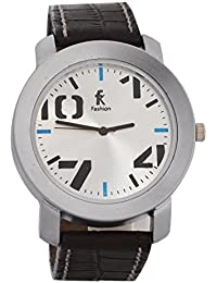 Fashion Knockout Silver Dial With Black Strap Analog Watch For Men's And Boy's
