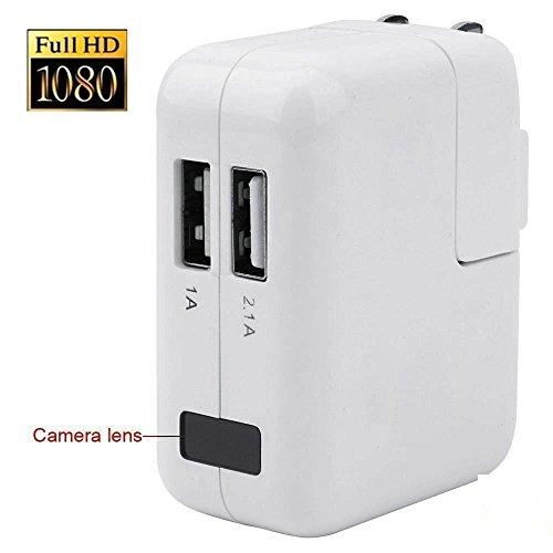 FiveSky 1920x1080P HD Spion Kamera USB Telefon Aufladeeinheits Adapter Bewegungs Aktivierter Videogerät mit Schleifen Aufnahmefunktion
