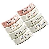 Bestonzon Lot de 8 baguettes en céramique Motif fleurs de prunier Couleur aléatoire