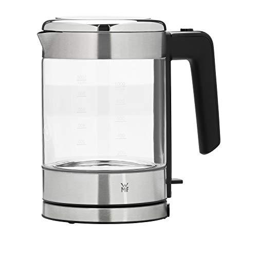 WMF Küchenminis Glas-Wasserkocher (1900 Watt, 1,0 l, kabellos, Wasserstandanzeige, Kalk-Wasserfilter, Kochstoppautomatik)