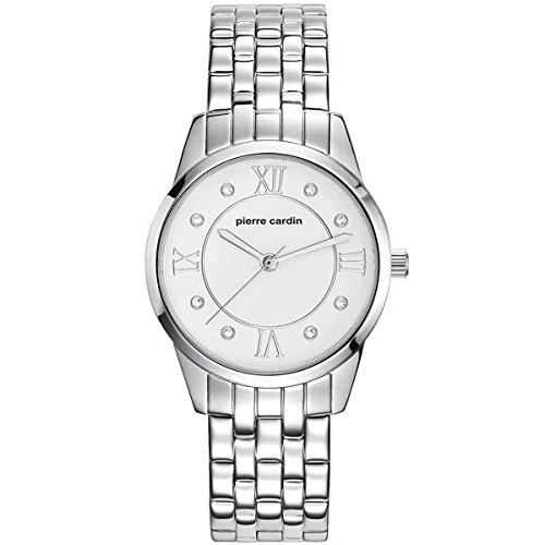 Pierre Cardin Femme 32mm Bracelet & Boitier Acier Inoxydable Quartz Cadran Argent Montre PC107892F05