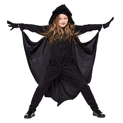 Tanzabend Kostüm Für Kleinkind - Halloween Karneval Kostüm Cosplay Overall Kostüm Für Kinder Mädchen Tier Fledermaus Body,Schwarz,M