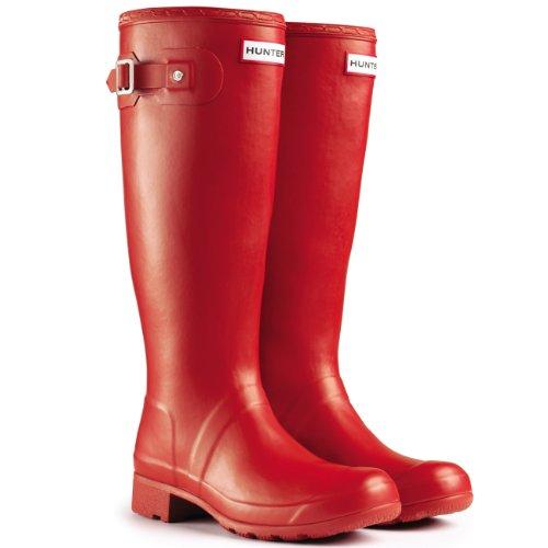 Damen Hunter Original Tour Regen Winter Schnee Gummistiefel Stiefel Rot