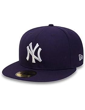 New Era 59fifty cap en el Bundle con UD PAÑUELO New York Yankees - Púrpura/blanco, 7 1/4-57,7 cm
