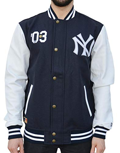 Ct Letterman Neyyan - Jacke-Linie New York Yankees für Herren, Farbe Blau, Größe XL ()