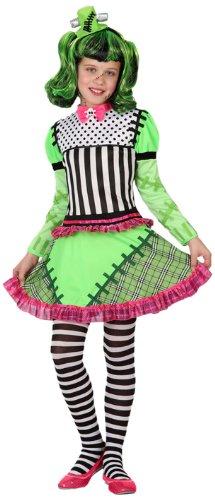 - Verkleidung Weibliche Monster Mädchen, Größe: 116 (Frankensteins Braut Kostüm Kind)