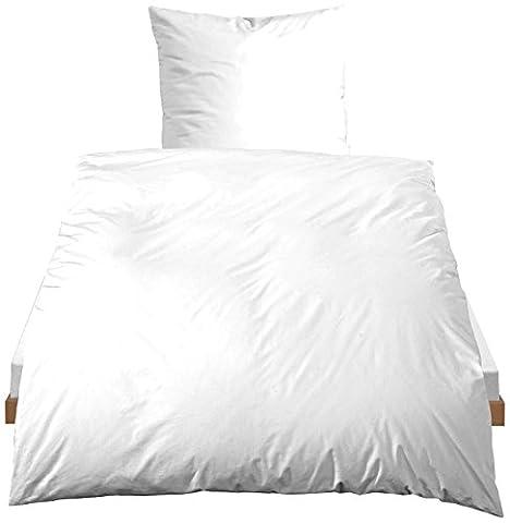 Castell Baumwoll-Bettwäsche, nach Öko-Tex Standard 100, 80 x 80 + 135/200 cm, weiß