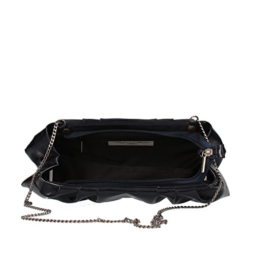 VIRGINIA'S SECRET borsa pochette donna blu nero vernice Blu