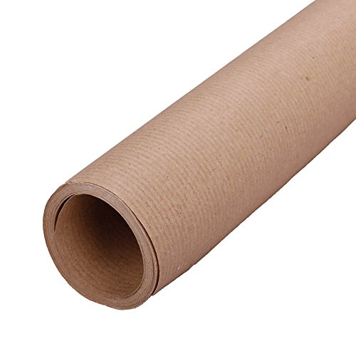 1x Geschenkpapier, Packpapier, Braun, 75 g/qm Papierstärke, 100 cm x 25 m