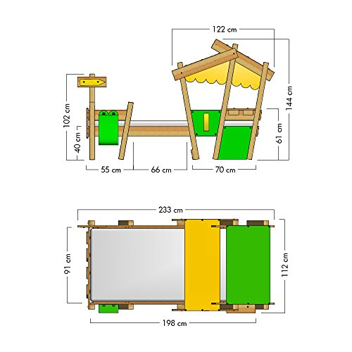 WICKEY Kinderbett CrAzY Candy Jugendbett 90x200cm mit Lattenboden, gelb-apfelgrün - 7