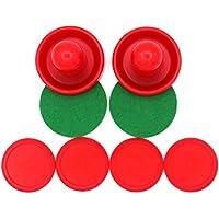 STOBOK Juego de Botes de Hockey Pushers de Aire de 96 mm con 8 Piezas Color Rojo 76 mm 8 Piezas