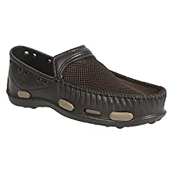 Action Shoes Mens Brown-Lbrown Clogs - 9 UK/India (43 EU)(1218-BROWN-LBROWN)