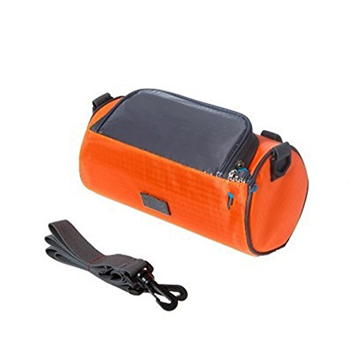 LWJgsa Multifunktionale Fahrrad Lenker Tasche Wasserdichte Tasche Reiten Mountain Bike Tasche Orange