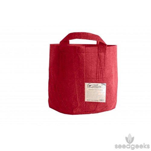 Root Pouch Grow Taschen, 3Liter mit Griffen Boxer braun, rot und grün, beste Qualität, Bundle Von 10 rot - Root-tray