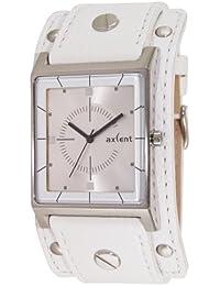 Axcent IX38001-661 - Reloj para mujeres, correa de cuero color blanco