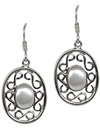 Silverwala 925-92.5 Sterling Silver Pearl Fashion Earrings for Women and Girls