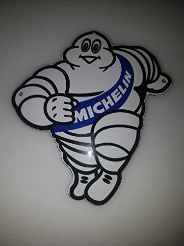 EMAILLE Smaltato targa Targa Porta pneumatici Michelin Omini Sign 14x 15cm Email officina.