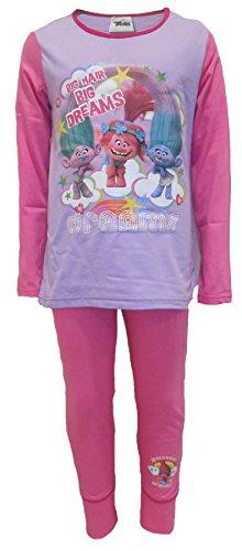 Trolls Pijama para niñas (9-10 Años)
